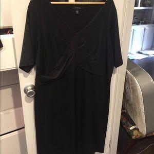 Lands end black knit dress